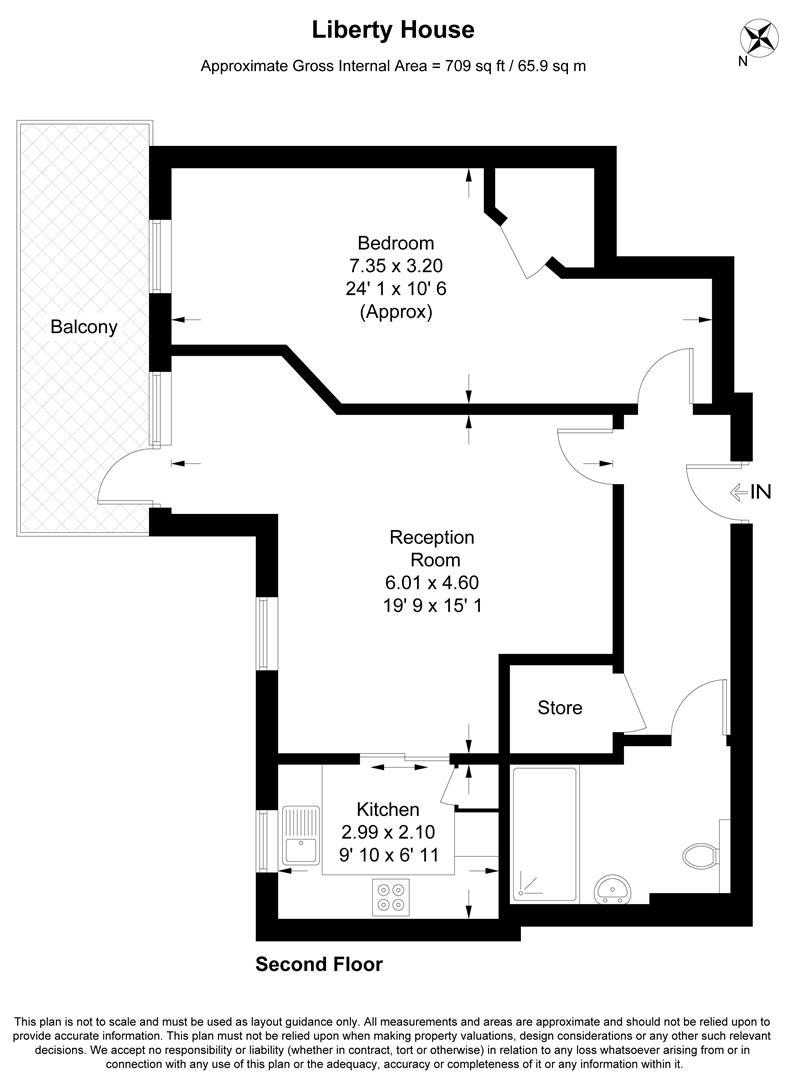 Floorplan for Liberty House, Kingston Road, London